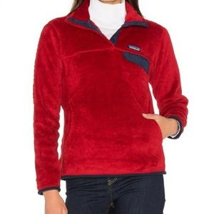 PATAGONIA Synchilla Retool Snap-T red fleece pullover jacket